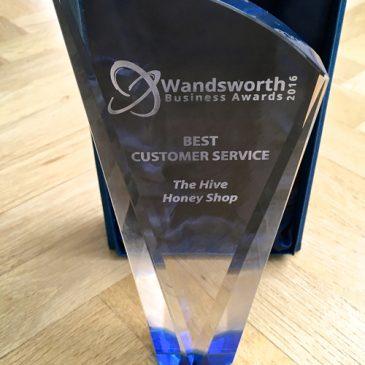 We won- BEST CUSTOMER SERVICE 2016 Award
