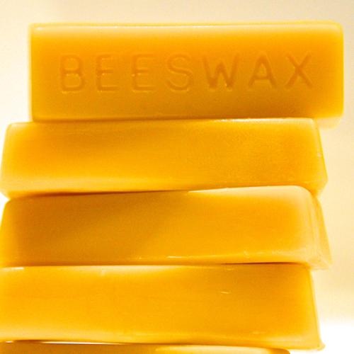 Pure British 100% beeswax block