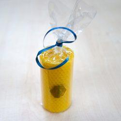 Chunky Tall Pure Beeswax Honeycomb Candle – Single