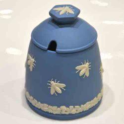 Vintage Wedgewood Queenbee Jasperware Honeypot