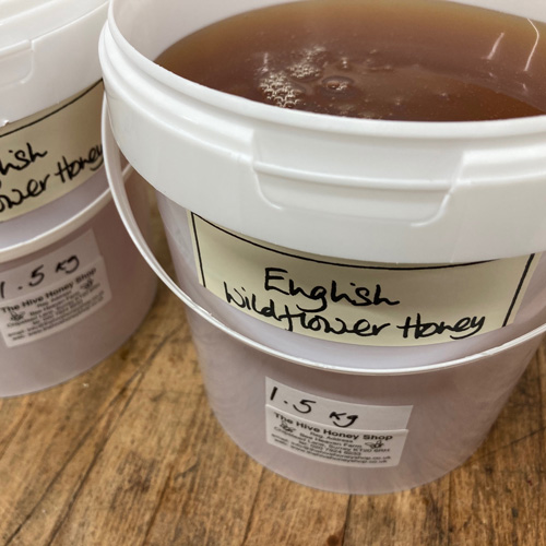 Catering bulk 1.5kg English Wildflower Honey-Clear/Runny
