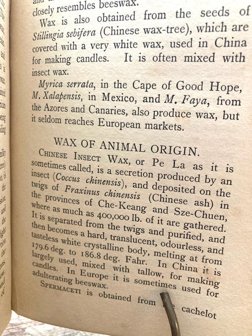 Wax Craft- All about beeswax- British 1908 Leather bound
