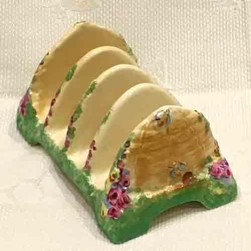 Original Royal Winton 'Beehive' 4 slice Toast Rack–1930s